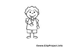 Glace clip art – Gens image à colorier