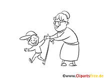 Grand-mère illustration – Gens à imprimer