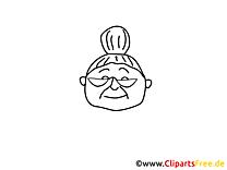 Grand-mère image – Coloriage gens illustration