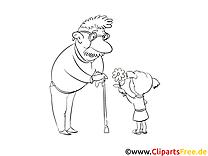 Grand-père dessin – Coloriage gens à télécharger