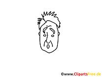 Illustrations gratuites homme – Gens à colorier