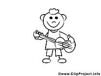 Musicien dessin à télécharger – Gens à colorier