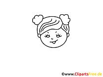 Petite fille dessin – Coloriage gens à télécharger