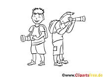 Photographes image – Gens images à colorier