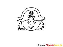 Pirate cliparts gratuis – Gens à imprimer