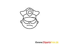 Policier illustration – Gens à imprimer