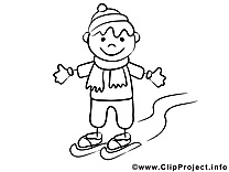 Ski dessins gratuits – Gens à colorier