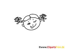 Tête de fille image gratuite – Gens à imprimer