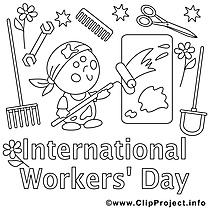 Journée des travailleurs cliparts – Premier mai à imprimer