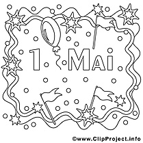 Journée internationale dessin – Coloriage premier mai