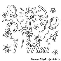 Soleil images – Premier mai gratuits à imprimer