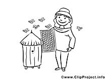Apiculteur clip arts – Métiers à imprimer
