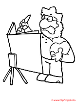 Artiste coloriage