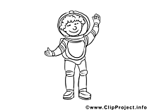Astronaute images gratuites – Métiers à colorier