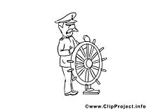 Capitaine images gratuites – Métiers à colorier