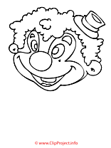 Clown coloriage