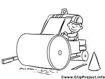 Conducteur de bulldozer clip art – Métiers à imprimer