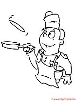 Cuisinier coloriage