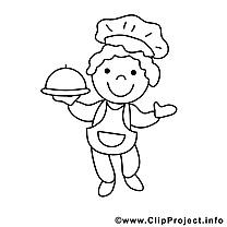 Cuisinier dessin – Coloriage métiers à télécharger