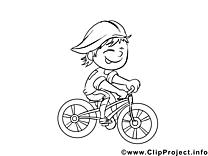 Cycliste dessin à télécharger – Métiers à colorier