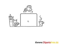 Employé image – Coloriage métiers illustration