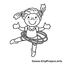 Gymnaste image à télécharger – Métiers à colorier