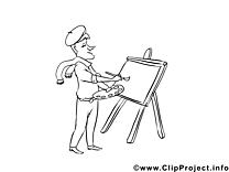 Illustration peintre – Métiers à imprimer
