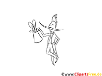 Magicien clip arts – Métiers à imprimer