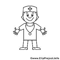 Médecin illustration – Métiers à imprimer