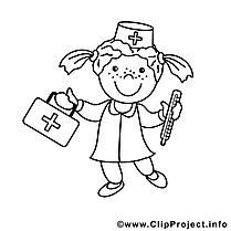Médecin image gratuite – Métiers à colorier