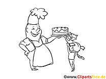 Pâtissier illustration – Métiers à imprimer