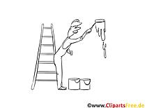 Peintre clipart – Métiers dessins à colorier