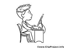Programmeur image – Métiers à colorier
