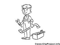 Serrurier illustration – Métiers à imprimer