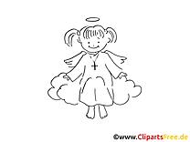 Ange images – Baptême gratuits à imprimer