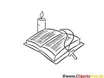 Coloriage baptême illustration à télécharger