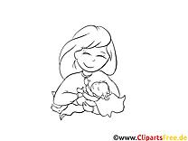 Mère clip art gratuit – Baptême à imprimer