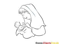 Mère cliparts gratuis – Baptême à imprimer