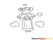 Nuages image – Coloriage baptême illustration