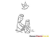 Prêtre clipart – Baptême dessins à colorier