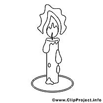 Bougie dessins gratuits – Communion à colorier