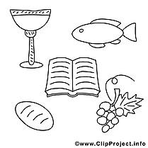Fête dessin – Coloriage communion à télécharger
