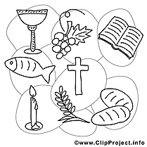 Communion coloriages