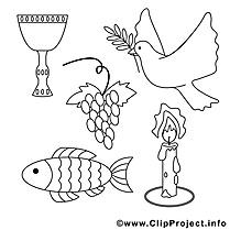 Religion dessin – Communion gratuits à imprimer