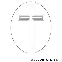 Croix clipart gratuit – Confirmation à colorier