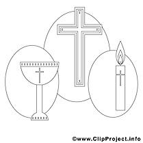 Croix illustration – Confirmation à imprimer