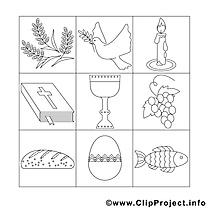 Décoration clipart – Confirmation dessins à colorier