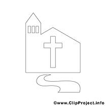 Église clipart – Confirmation dessins à colorier