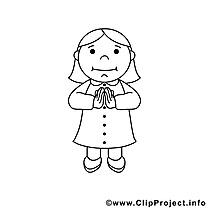Femme clip art – Confirmation image à colorier
