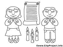 Prière clip arts – Confirmation à imprimer